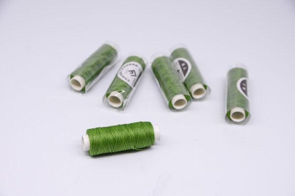 """Нитка """"GALACES"""" воскована кругла 0,55 мм. Зелена-s033"""