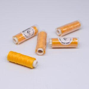 """Нить """"GALACES"""" вощеная круглая 0,55 мм. Желтая-s041"""
