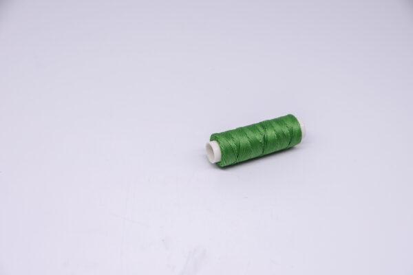 """Нить """"GALACES"""" вощеная круглая 0,55 мм. Зеленая-s066"""
