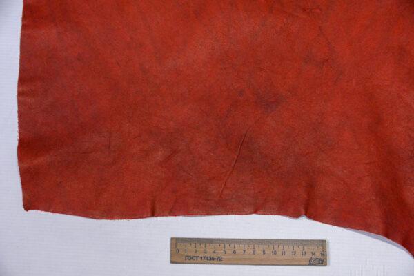 Кожа КРС, темно красная, 26 дм2.-1-563