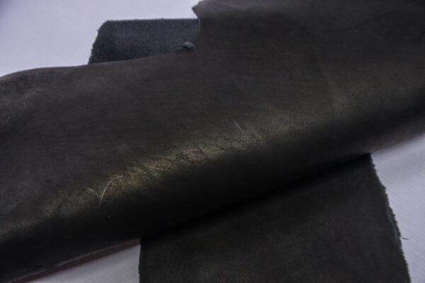 Кожа КРС краст, черный, 22 дм2.-1-564