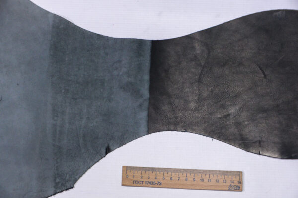 Кожа КРС + нубук, черный, 20 дм2.-1-565