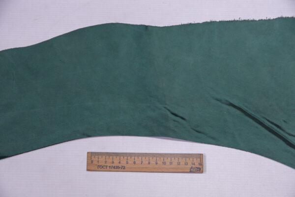 Кожа КРС Крейзи, зеленая, 16 дм2.-1-567