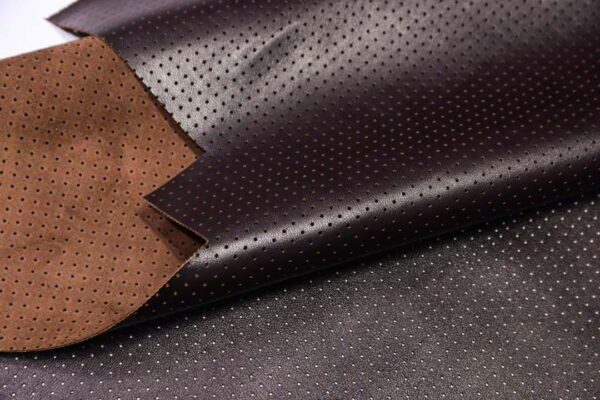 Кожа КРС с перфорацией, темно-коричневая, 153 дм2.-110491