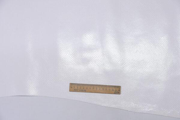 Кожа КРС с тиснением под змею, белая, 95 дм2.-110506