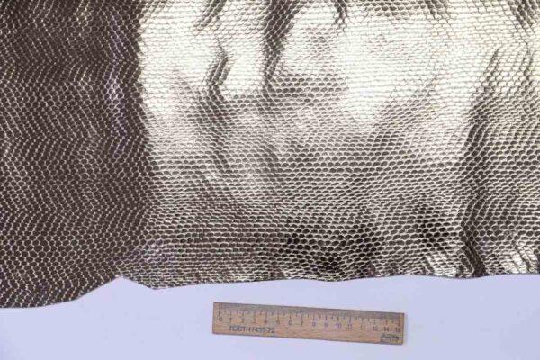 Кожа теленка с тиснением под змею, бронзовая, 65 дм2, Ascot S.P.A.-110508