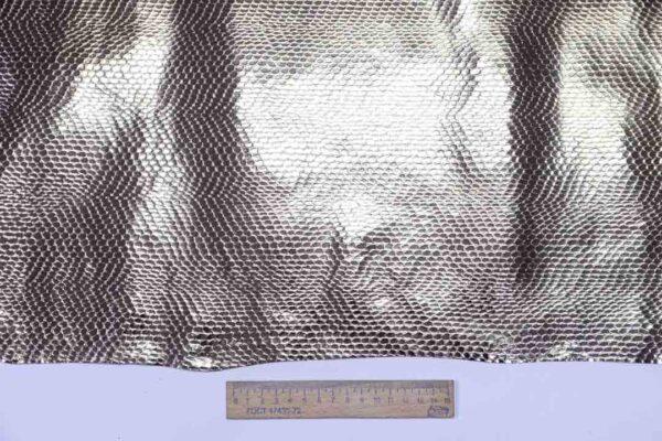 Кожа теленка с тиснением под змею, бронзовая, 68 дм2, Ascot S.P.A.-110509