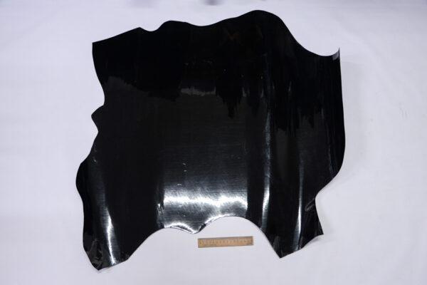 Лаковая кожа теленка, черная, 60 дм2, Dolmen S.p.A.-110523
