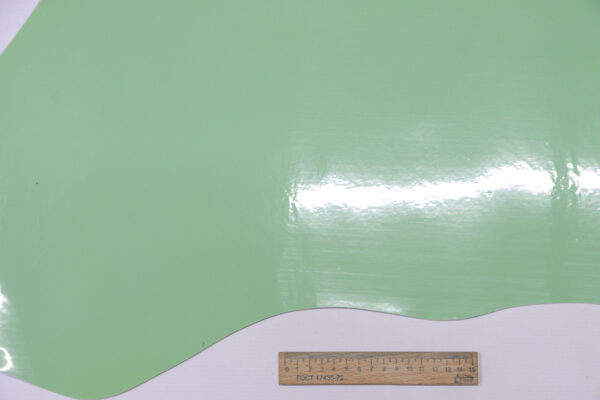 Лаковая кожа теленка, салатовая, 65 дм2, Dolmen S.p.A.-110524