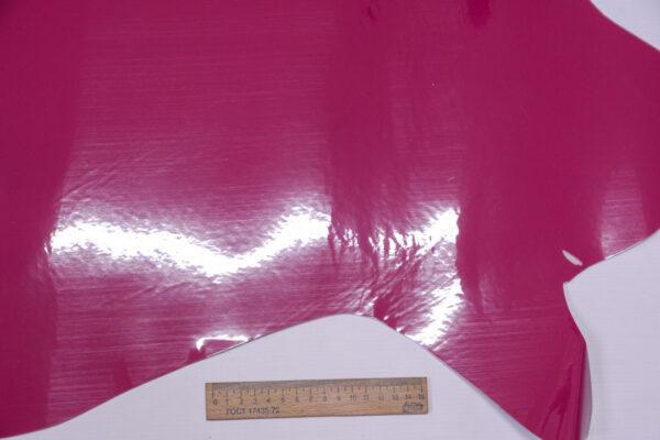 Лаковая кожа теленка, бледная фуксия, 50 дм2, Dolmen S.p.A.-110525