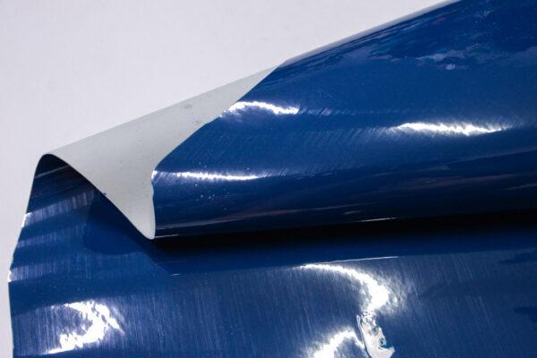 Лаковая кожа теленка, синяя, 61 дм2, Dolmen S.p.A.-110528