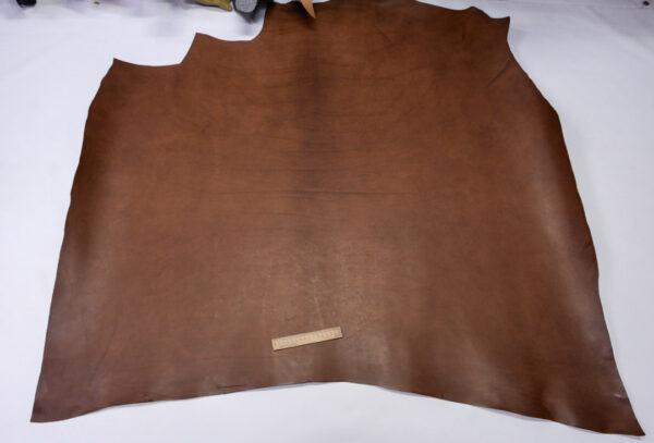 Кожа КРС ременная, краст растительного дубления, коричневая, 147 дм2.-110533