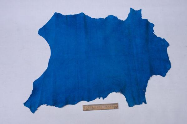 Велюр МРС (коза), голубой, 27 дм2, Conceria Stefania S. p. A.-110540