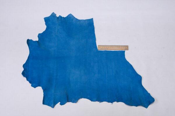 Велюр МРС (коза), голубой, 21 дм2, Conceria Stefania S. p. A.-110541