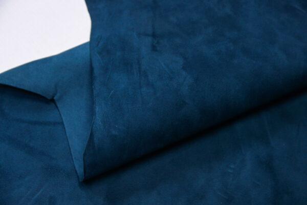 Велюр МРС (коза), синий, 38 дм2, Derma S.r.l.-110551