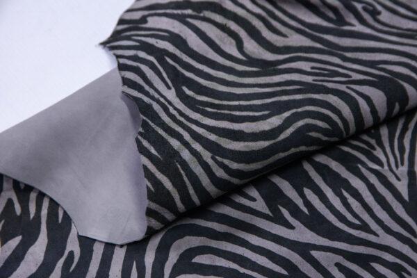 Велюр МРС (коза) с принтом, серый, 59 дм2.-110558
