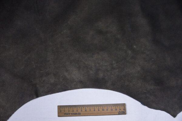 Кожа КРС краст, черный, 45 дм2.-1-573