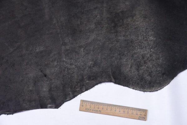 Кожа КРС краст, черный, 53 дм2.-1-596