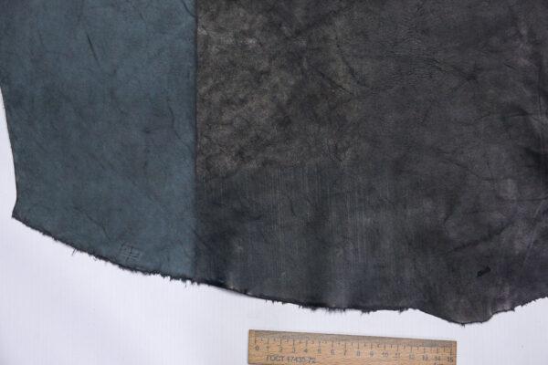 Кожа КРС краст, черный, 30 дм2.-1-602