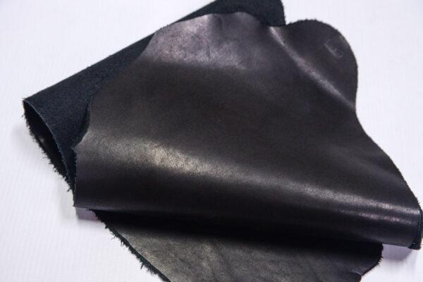 Кожа КРС краст, черный, 13 дм2.-1-605