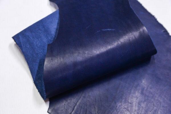 Кожа КРС краст, синий, 31 дм2.-1-606