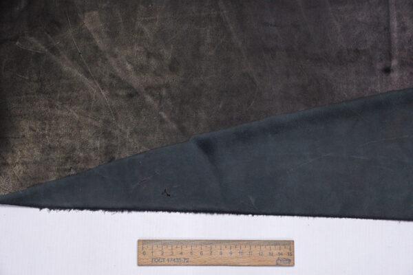 Кожа КРС краст, черный, 37 дм2.-1-607