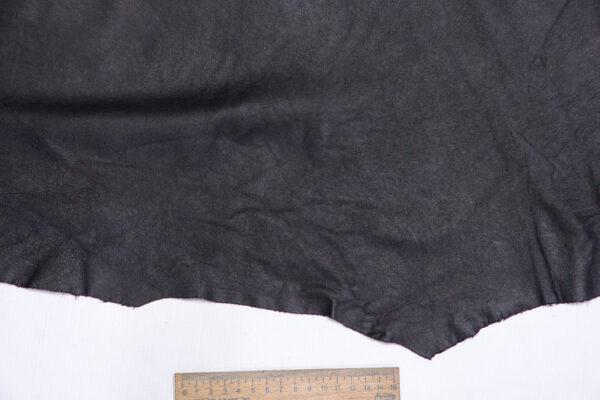 Кожа КРС одежная, черная, 31 дм2.-1-622