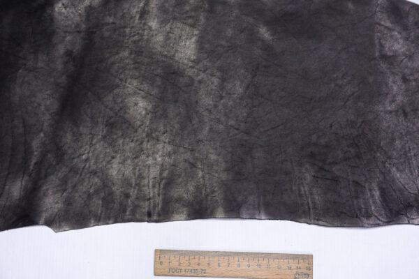 Кожа КРС краст, черный, 18 дм2.-1-623