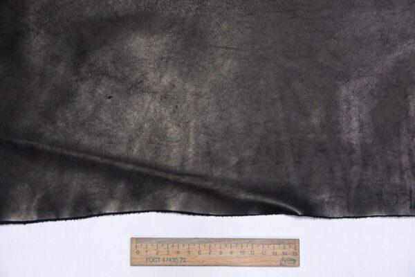 Кожа КРС краст, черный, 28 дм2.-1-625