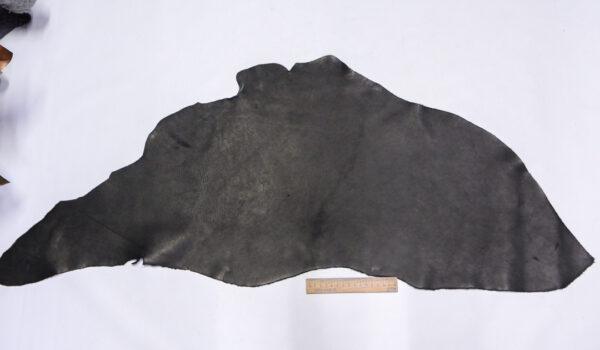 Кожа КРС краст, черный, 31 дм2.-1-628