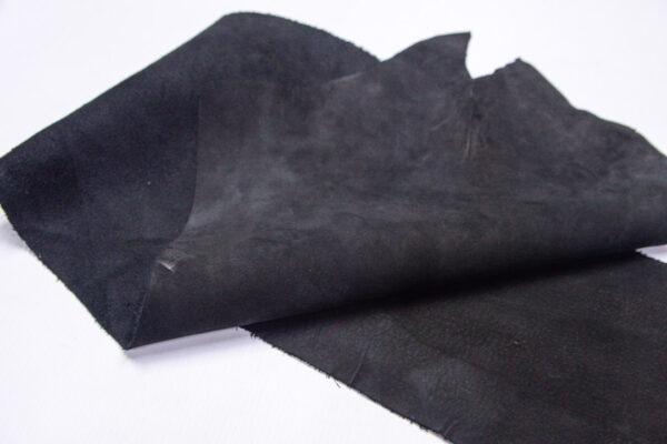 Нубук КРС , черный, 30 дм2.-1-631