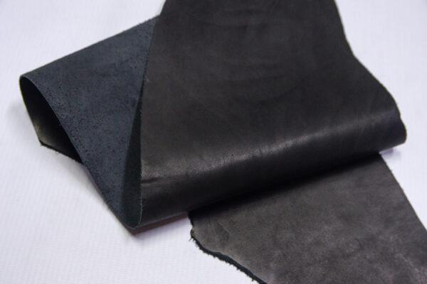 Кожа КРС краст, черный, 12 дм2.-1-638