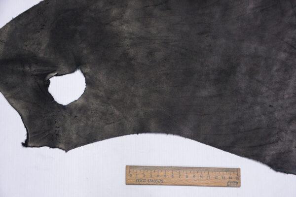 Кожа КРС краст, черный, 15 дм2.-1-641