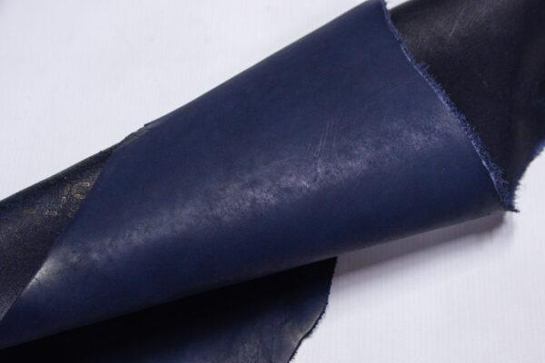 Кожа КРС краст, синий, 15 дм2.-1-647