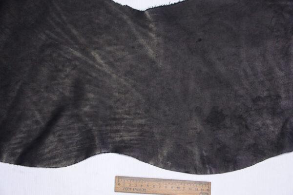 Кожа КРС краст, черный, 28 дм2.-1-649