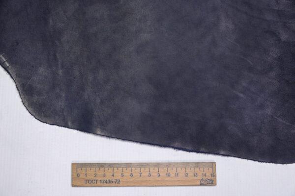 Кожа КРС краст, синий, 18 дм2.-1-652