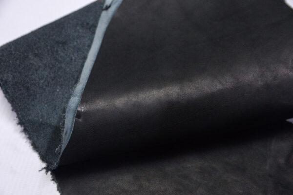Кожа КРС краст, черный, 16 дм2.-1-654