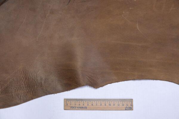 Кожа КРС Крейзи Хорс, светло коричневая, 20 дм2.-1-657