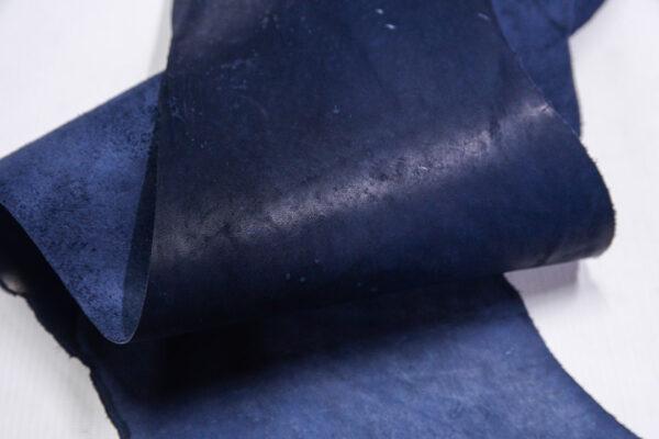Кожа КРС краст, синий, 20 дм2.-1-658
