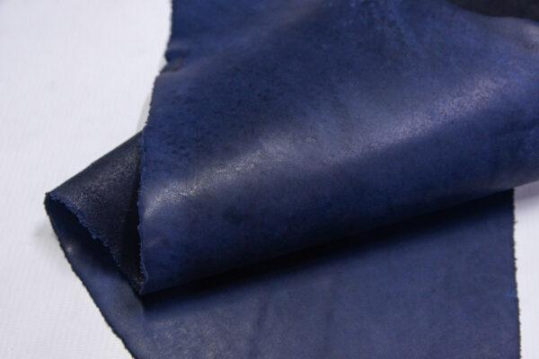 Кожа КРС краст, синий, 21 дм2.-1-659