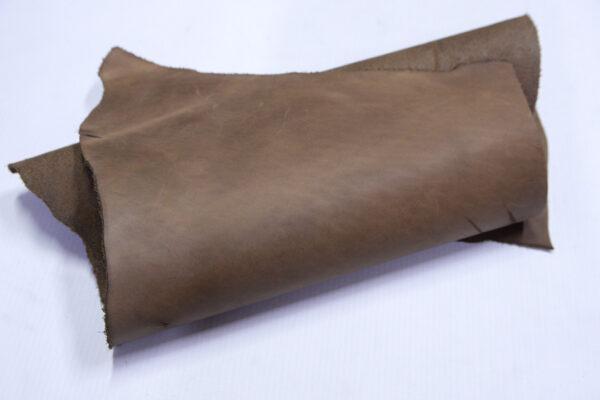 Кожа КРС Крейзи Хорс, светло коричневая, 13 дм2.-1-676