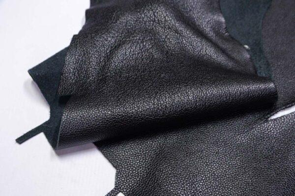 Кожа КРС флотар, черная, 17 дм2.-1-693