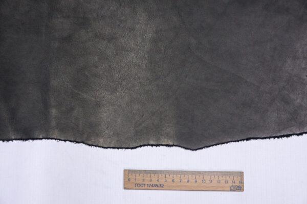 Кожа КРС краст, черная, 17 дм2.-1-701