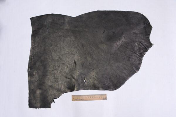 Кожа КРС краст, черная, 23 дм2.-1-702