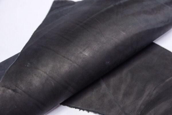 Кожа КРС краст, черная, 25 дм2.-1-705
