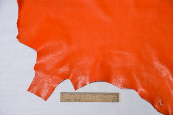 Кожа козы, оранжевая, 27 дм2, Russo di Casandrino S.p.A.-110598