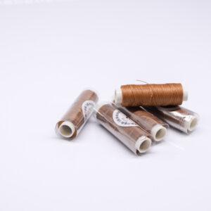 """Нитка """"GALACES"""" воскована кругла 0,35 мм. Світло-коричнева-s018"""