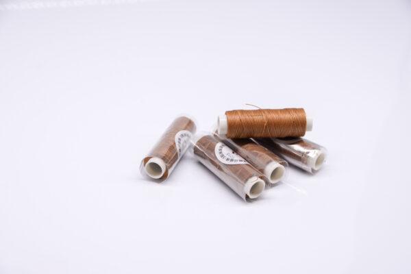 """Нить """"GALACES"""" вощеная круглая 0,35 мм. Светло-коричневая-s018"""