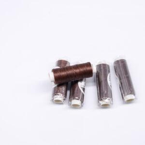 """Нить """"GALACES"""" вощеная круглая 0,35 мм. Темно-коричневая-s020"""