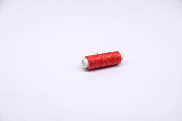 """Нитка """"GALACES"""" воскована кругла 0,35 мм. Червона-s049"""